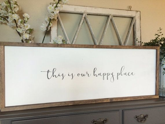 This Is Our Happy Place Framed Sign Farmhouse Style Family - 8 cool diy whitewashed signs for decor