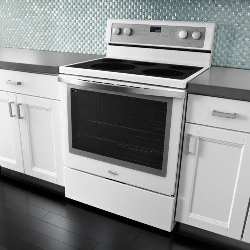 Whirlpool Gold 6 2 Cuft White Ice Electric Range With Timesavor Plus