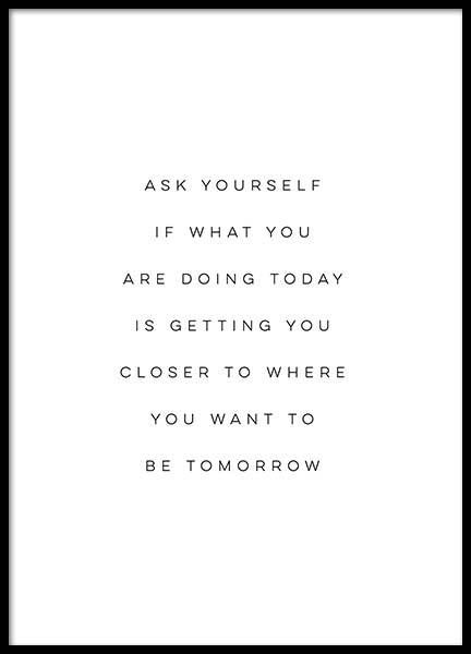 Ask yourself poster no grupo posters com texto em desenio ab also with  quote by marc jacobs well known designer fashion rh pinterest