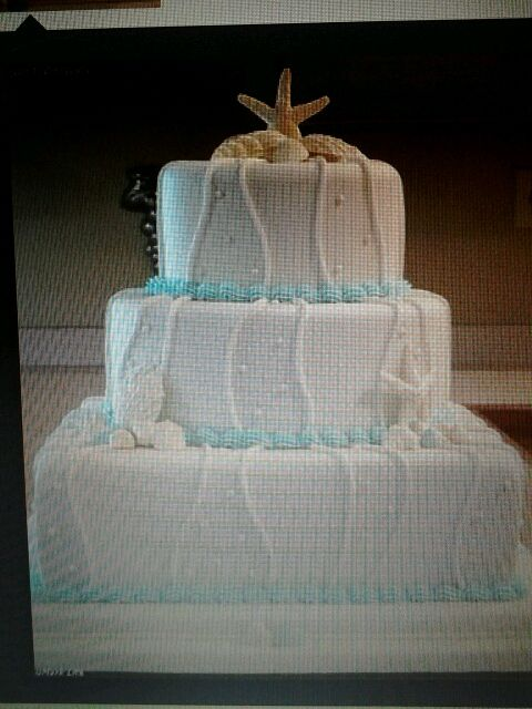Wedding cake idea to go with our beach theme!