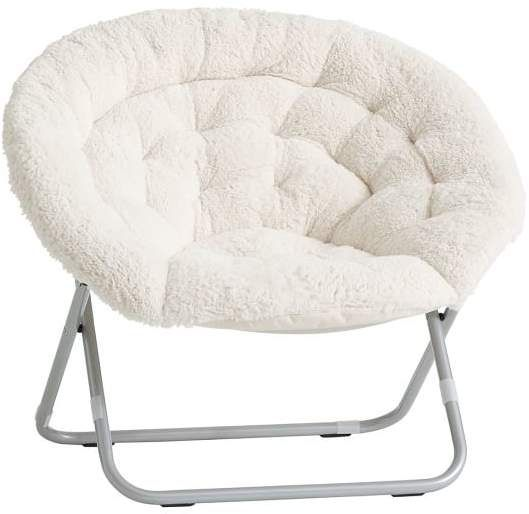 Hang Around Chair Pottery Barn Covers For Sale Melbourne Teen Sherpa A Round Ivory New Room 5