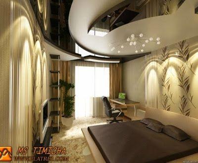 Platre1 Ms Timicha Des Faux Plafond Chambre A Coucher Chambre A Coucher Avec Le Design Tendance De Design De Chambre De Luxe Chambres Luxueuses Chambre Design