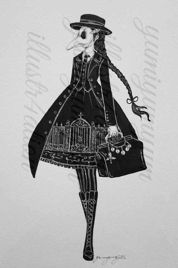 Spooky girls - A5 print