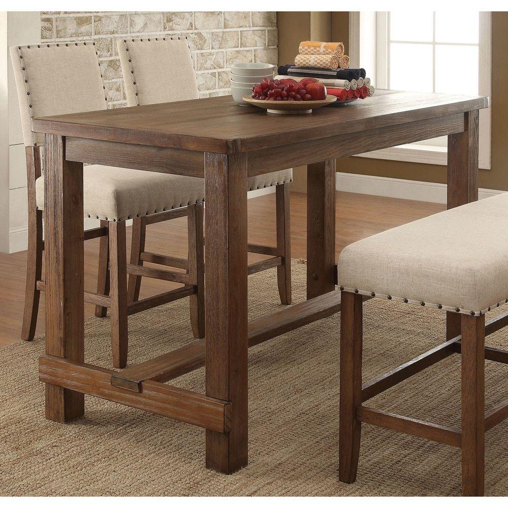 Furniture of America Telara Contemporary Natural Counter ...