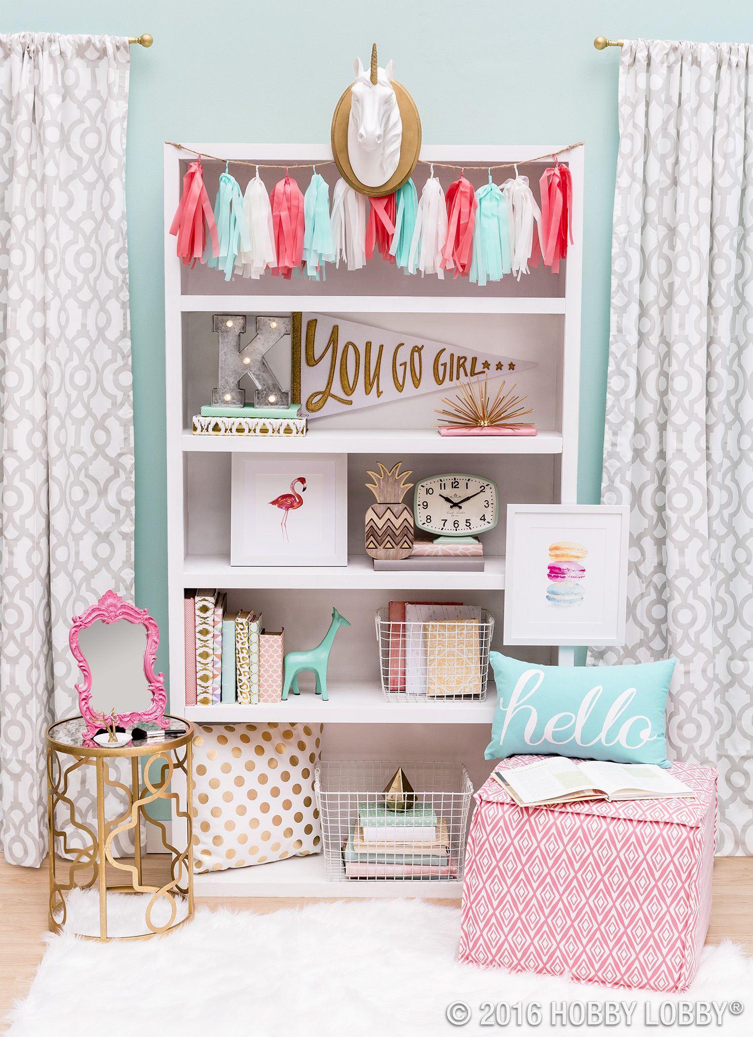Pink Accent Pieces Decorative Accessories Home Decor Frames Hobby Lobby Girls Room Decor Girl Room Room