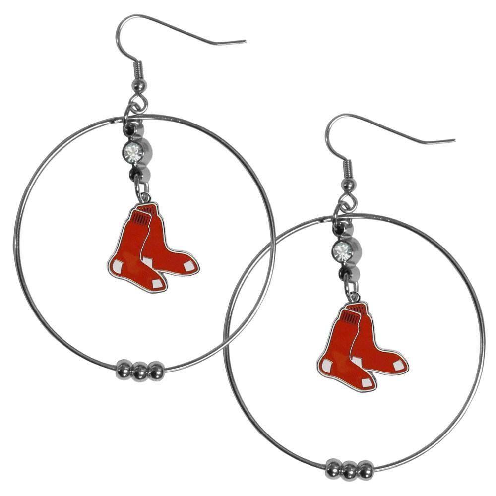 Boston Red Sox 2 Inch Hoop Earrings