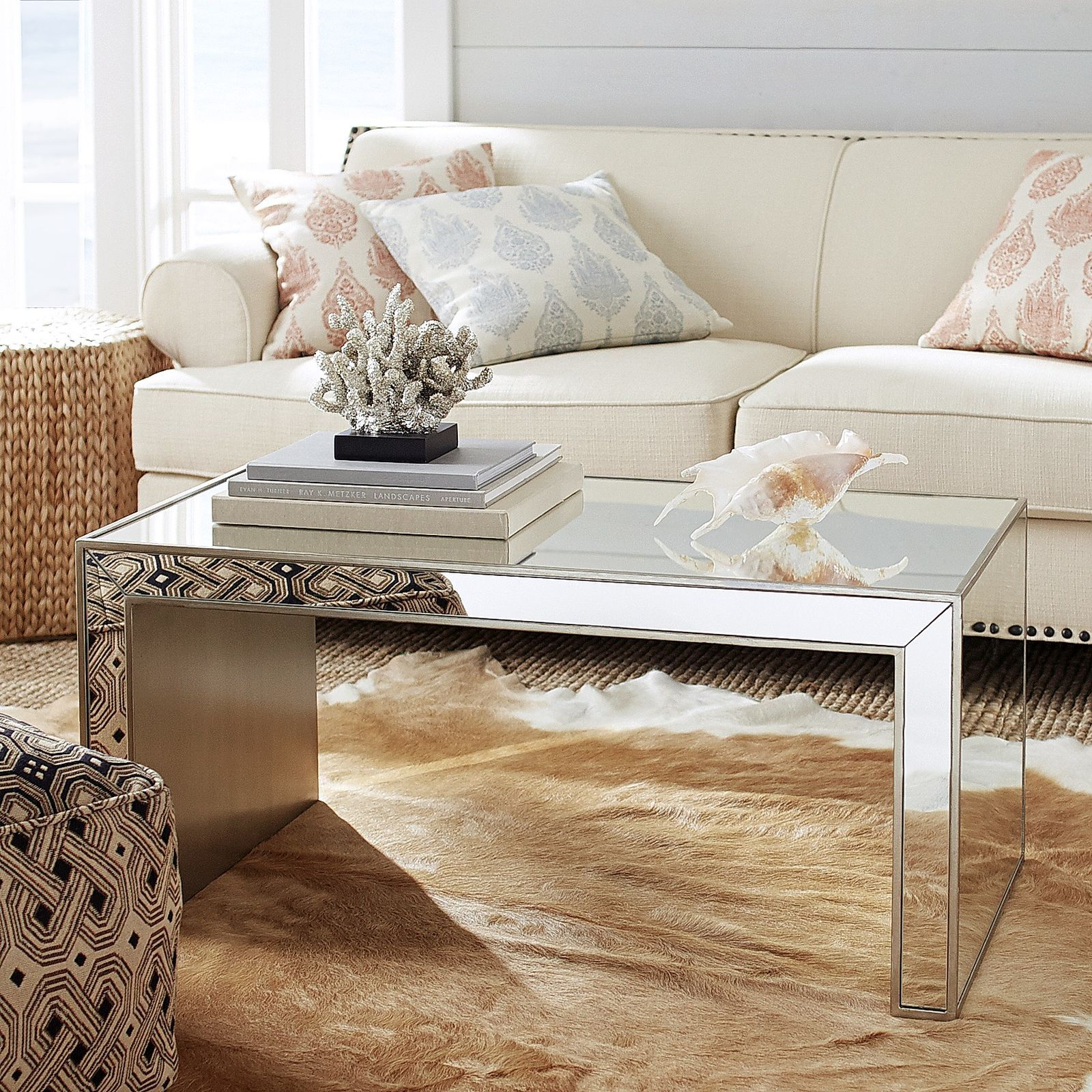 Alexa Mirrored Coffee Table Pier 1 Imports Table Decor Living Room Mirrored Coffee Tables Coffee Table