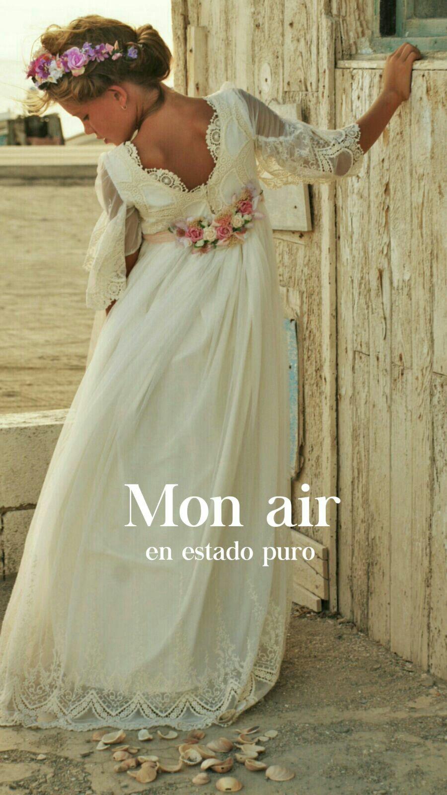 Vestido comunion espalda al aire