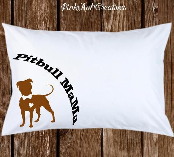 Pitbull Mama and Pit bull Papi Pillowcases - Gift for Birthday & Valentines - cool pillow cases - St