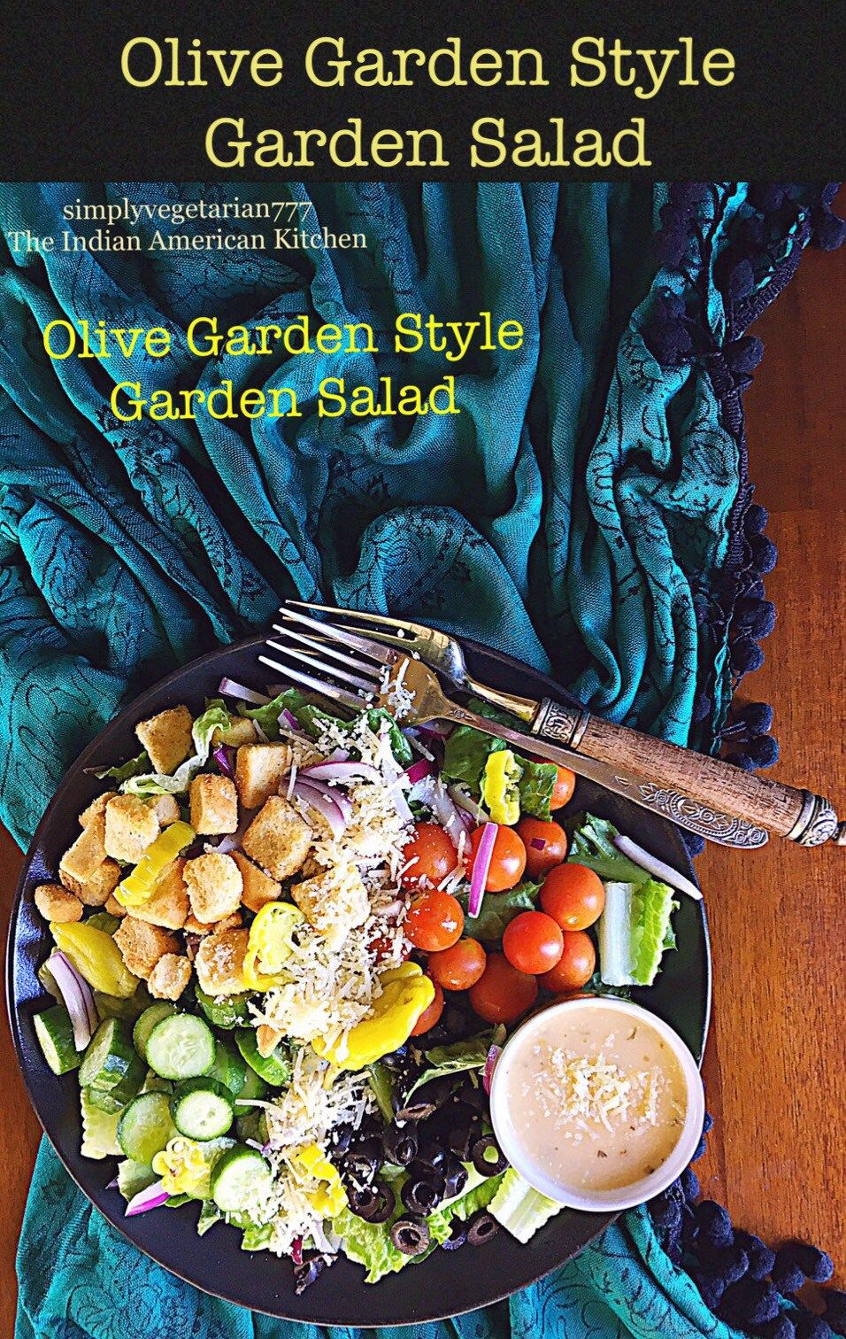 Olive Garden Style Garden Salad is an easy recipe to make