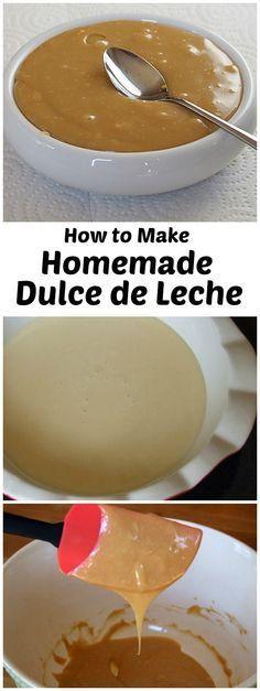 How to Make Homemade Dulce de Leche (easy!)  Recipe from RecipeGirl.com