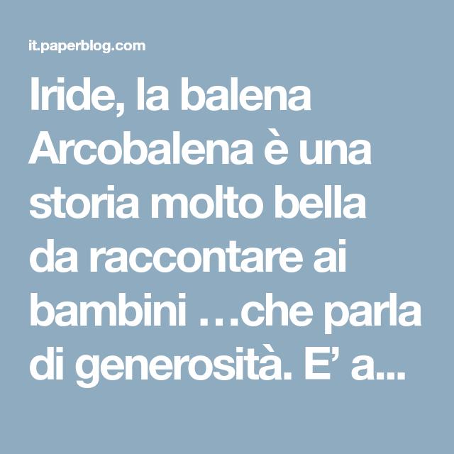 Iride Larcobalena Storie Pinterest