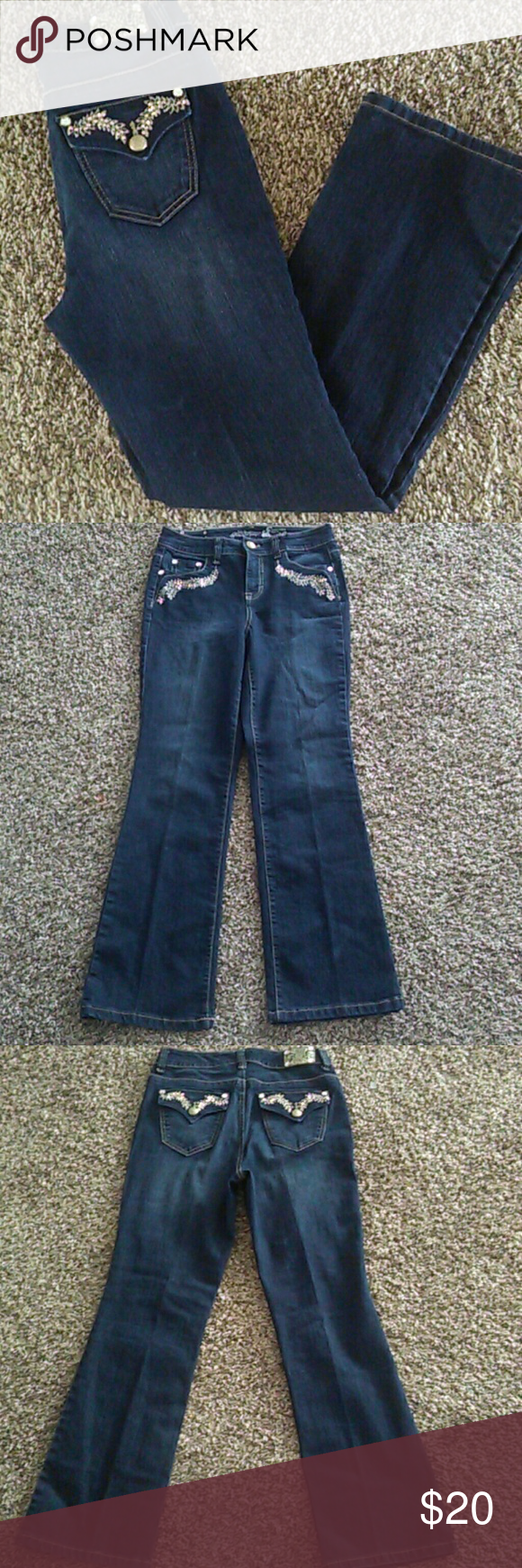 Gorgeous Jeans Good condition. Size 8P. Tummy control bootcut. Inseam 28in. Waist 28in Style & Co Jeans Boot Cut