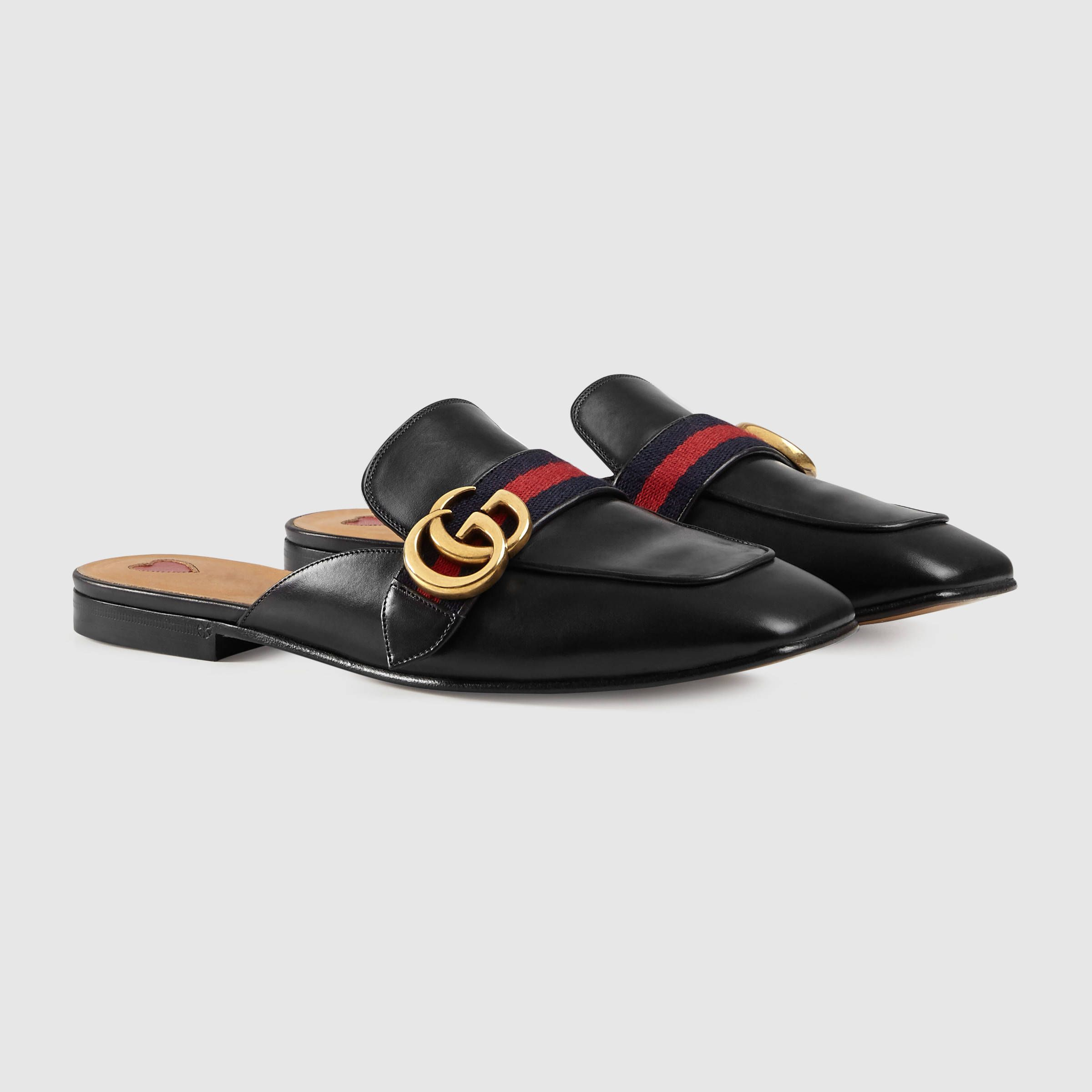 de6f38d36d1 Leather Slipper - Gucci