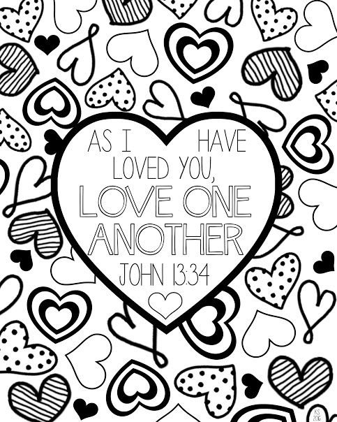 Displaying Love One Another Coloring Page Jpg Valentine Coloring Pages Valentines Conversation Hearts Heart Coloring Pages