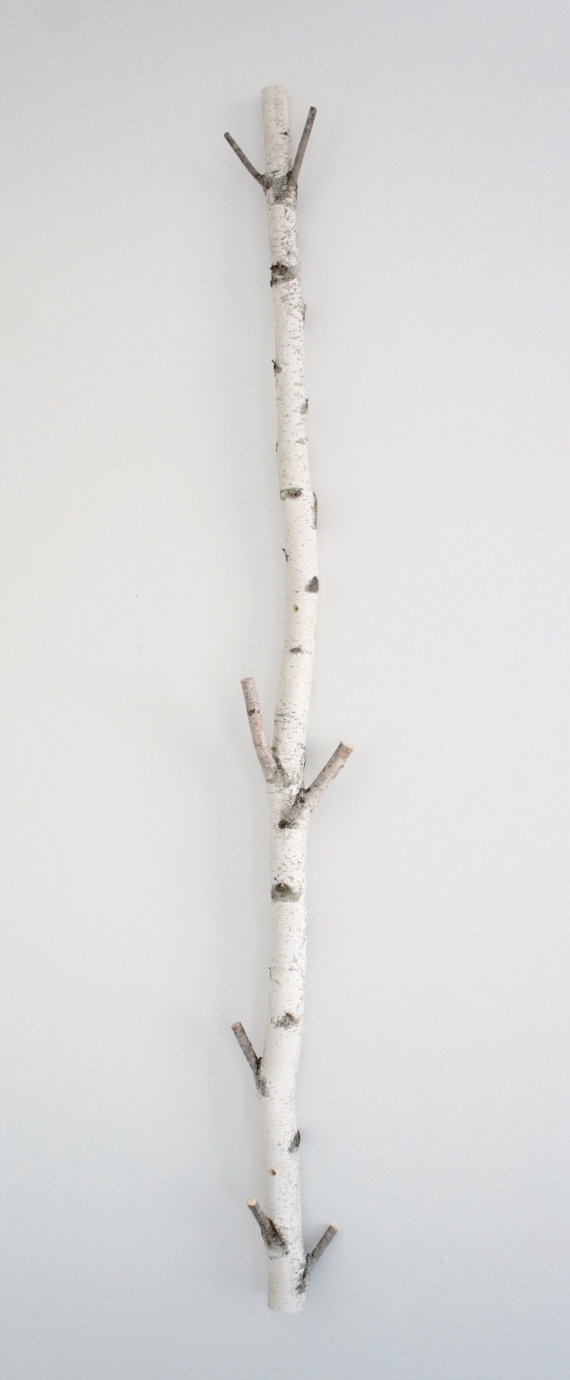 White Birch Tree Coat Rack Birch Branch Birch Pole Birch Log Trunk Coat Rack Coat Tree Wooden Hooks Modern Rustic Wall Decor White Birch Trees Tree Coat Rack Coat Tree