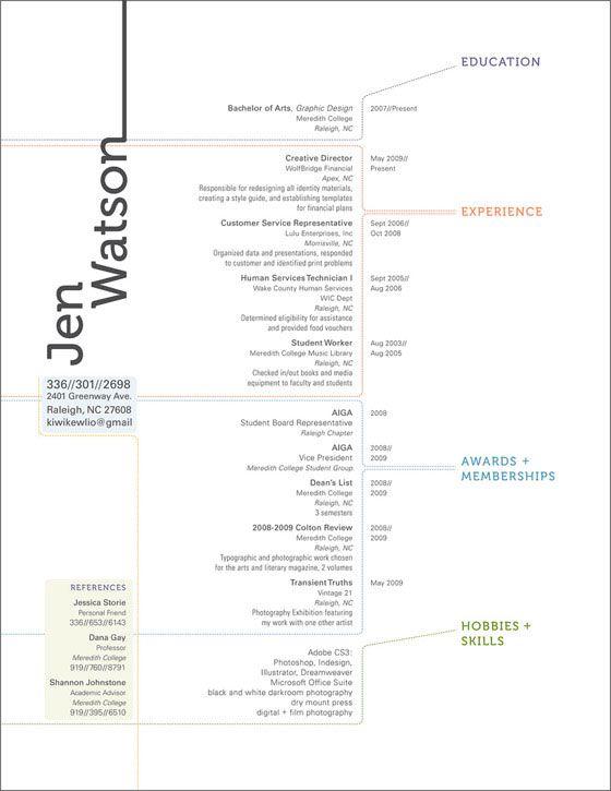 Resume Design Layout Inspiration - modern, minimalistic - web testing resume