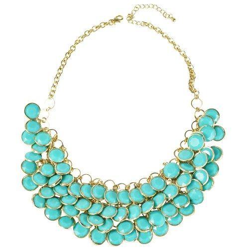 Floating Necklace, Blue Necklace, Statement Necklace