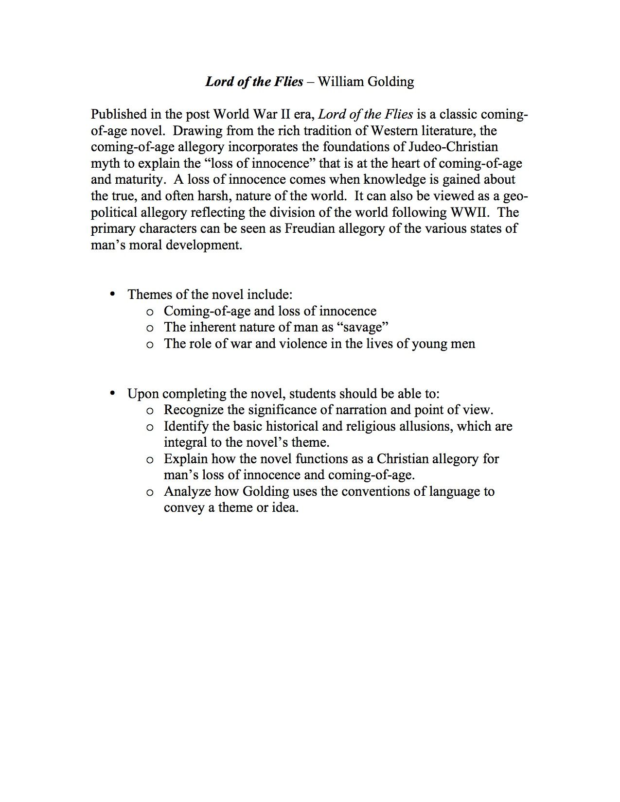 Worksheets Lord Of The Flies Vocabulary Worksheet lord of the flies unit materials is a comprehensive