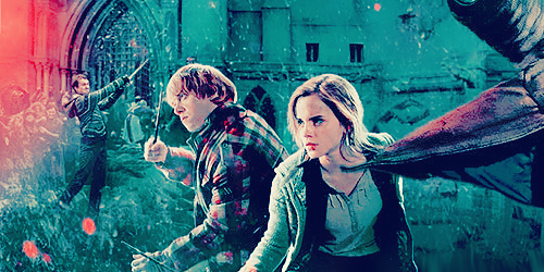 Neville, Ron, and Hermione