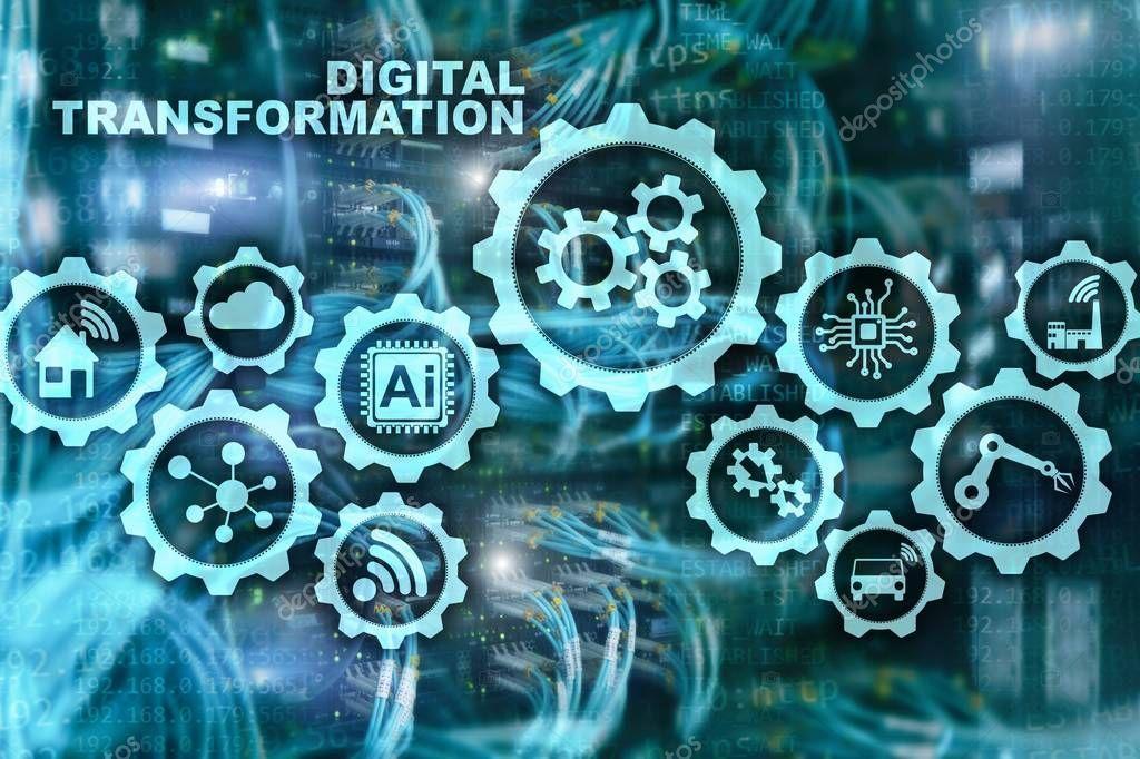 Digital Transformation Concept Of Digitalization Of Technology Business Processe Ad Transformation Concept Digital Transformation Motion Graphics Tutorial Digital transformation wallpaper hd