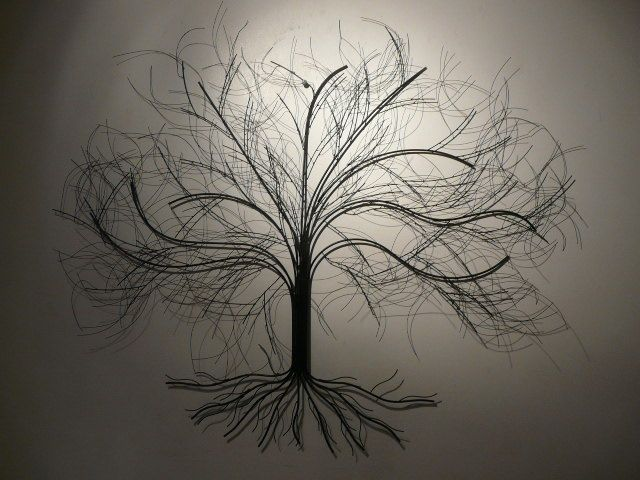 strong roots curious branches metal tree wall - Metal Tree Wall Decor