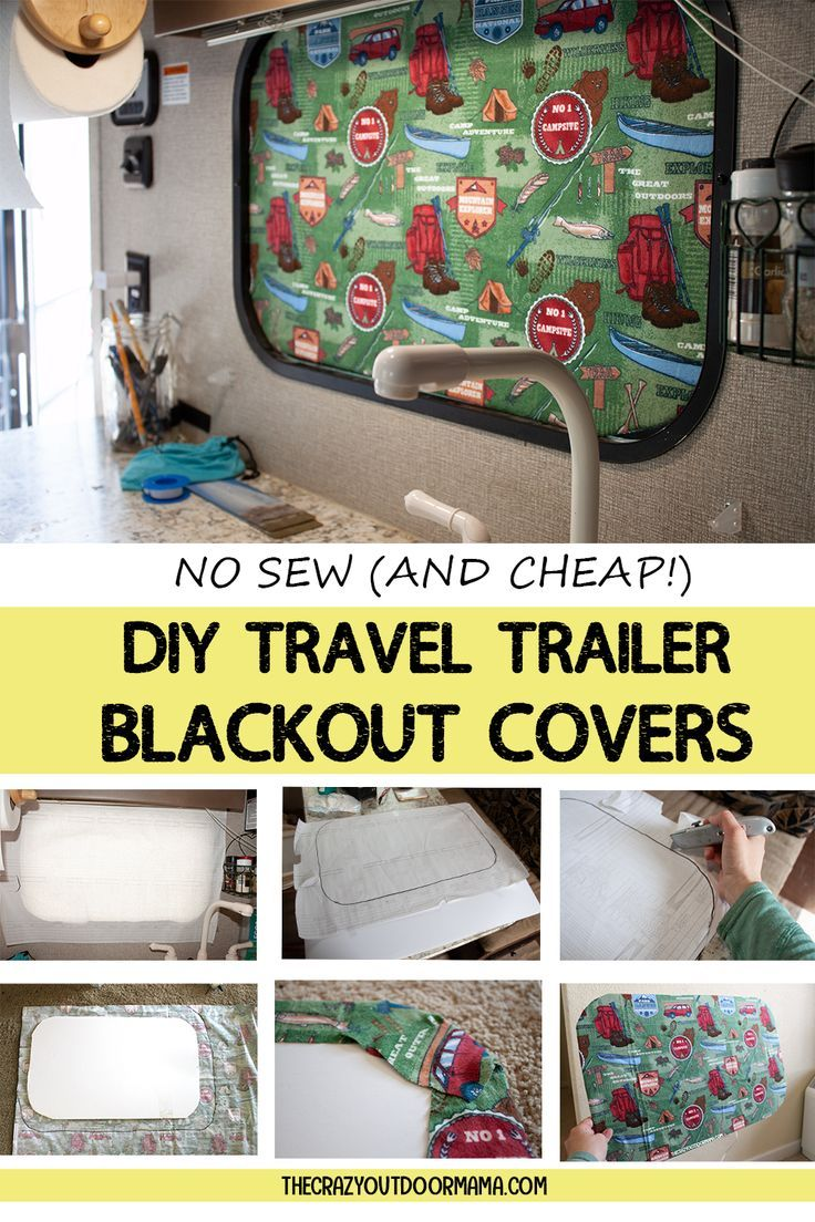 How to DIY RV BlackOut Window Covers for Your RV or Camper (NO SEWING Involved!) – The Crazy Outdoor Mama #rvcamping