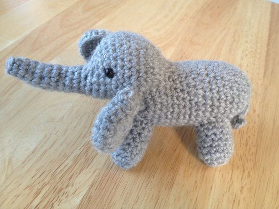 Amigurumi Patterns Elephant : E is for elephant crochet elephant applique repeat crafter me