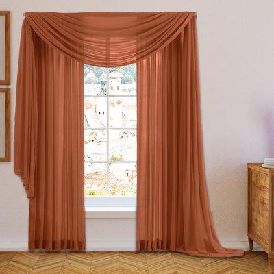 Willa Arlo Interiors Brushgrove Solid Sheer Curtain Panels Color