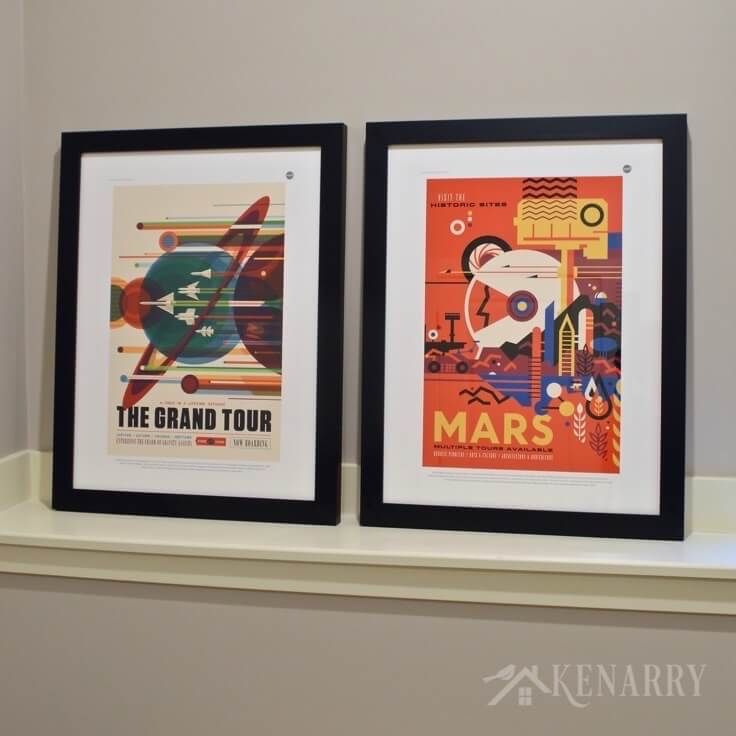 Design Your Own Bedroom Online Free: NASA Posters Inspire Outer Space Bedroom