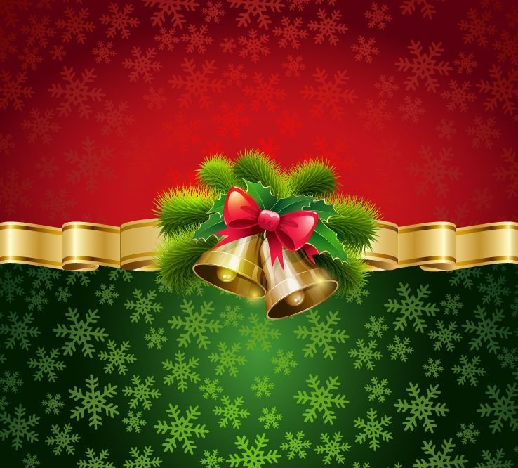 Nice Christmas Card Background Vector Illustration | Free Vector Graphics | All  Free Web Resources For Designer