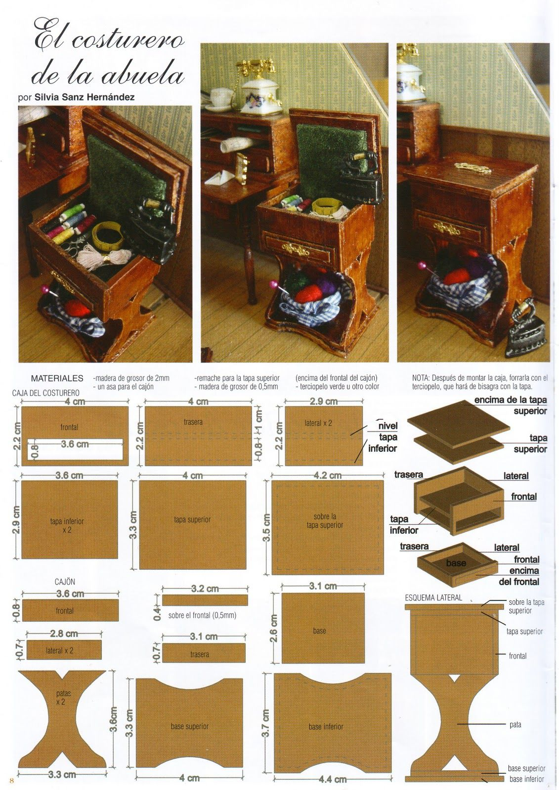 sewing box tutorial miniatur hobby n hstube. Black Bedroom Furniture Sets. Home Design Ideas