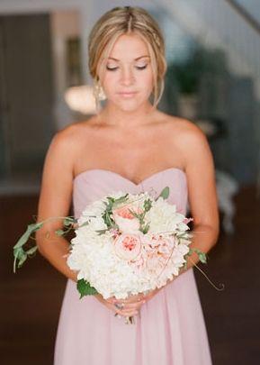 glamorous , elegant, whimsicalbright, blush, bridesmaid