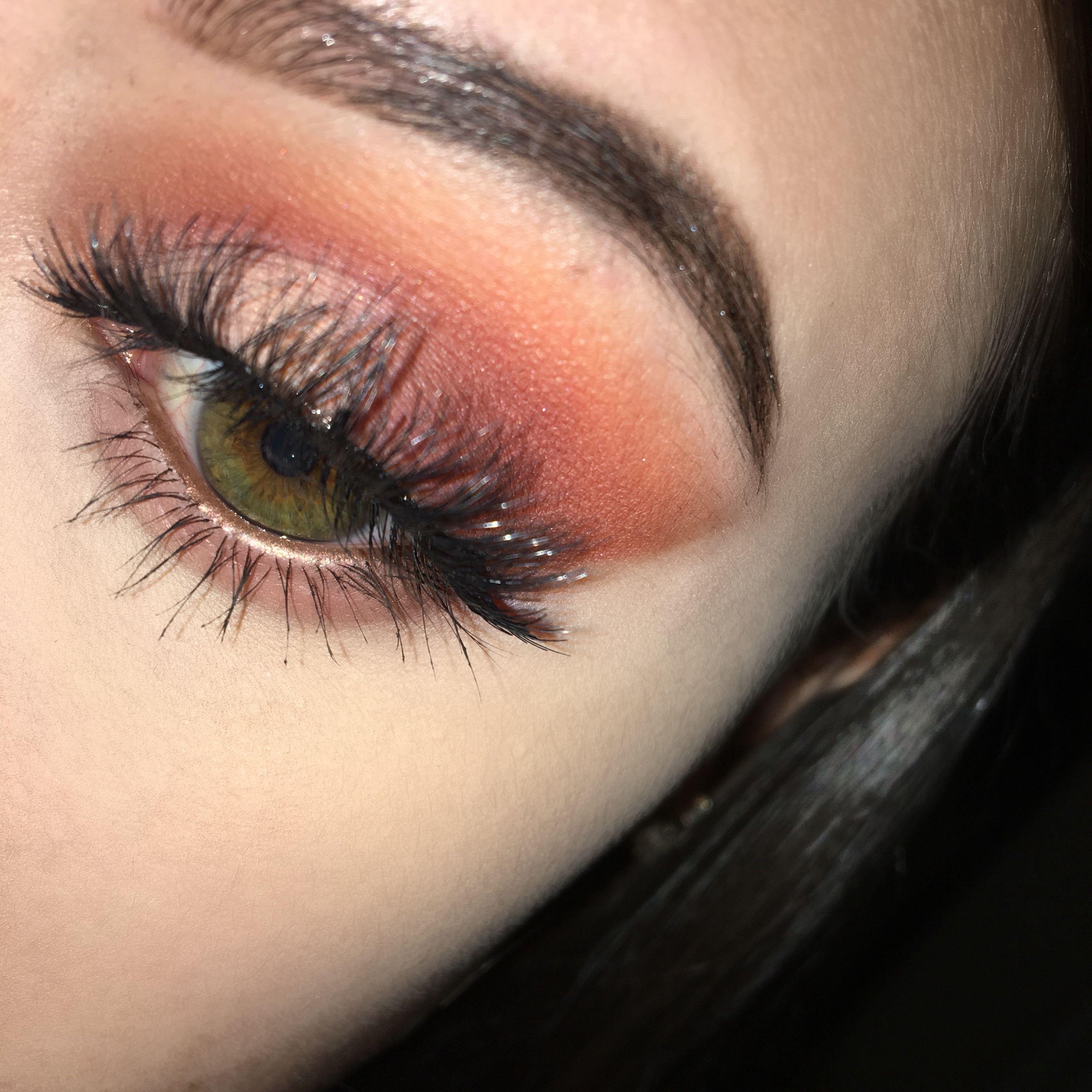Too Faced Just Peachy Mattes Palette Peach Eye Look