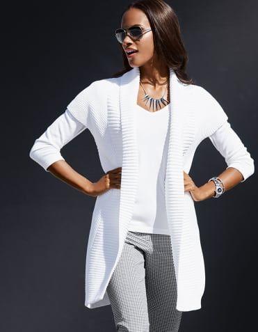 Tricot vest, Pullover, Zonnebril, 7/8-broek, Halsketting
