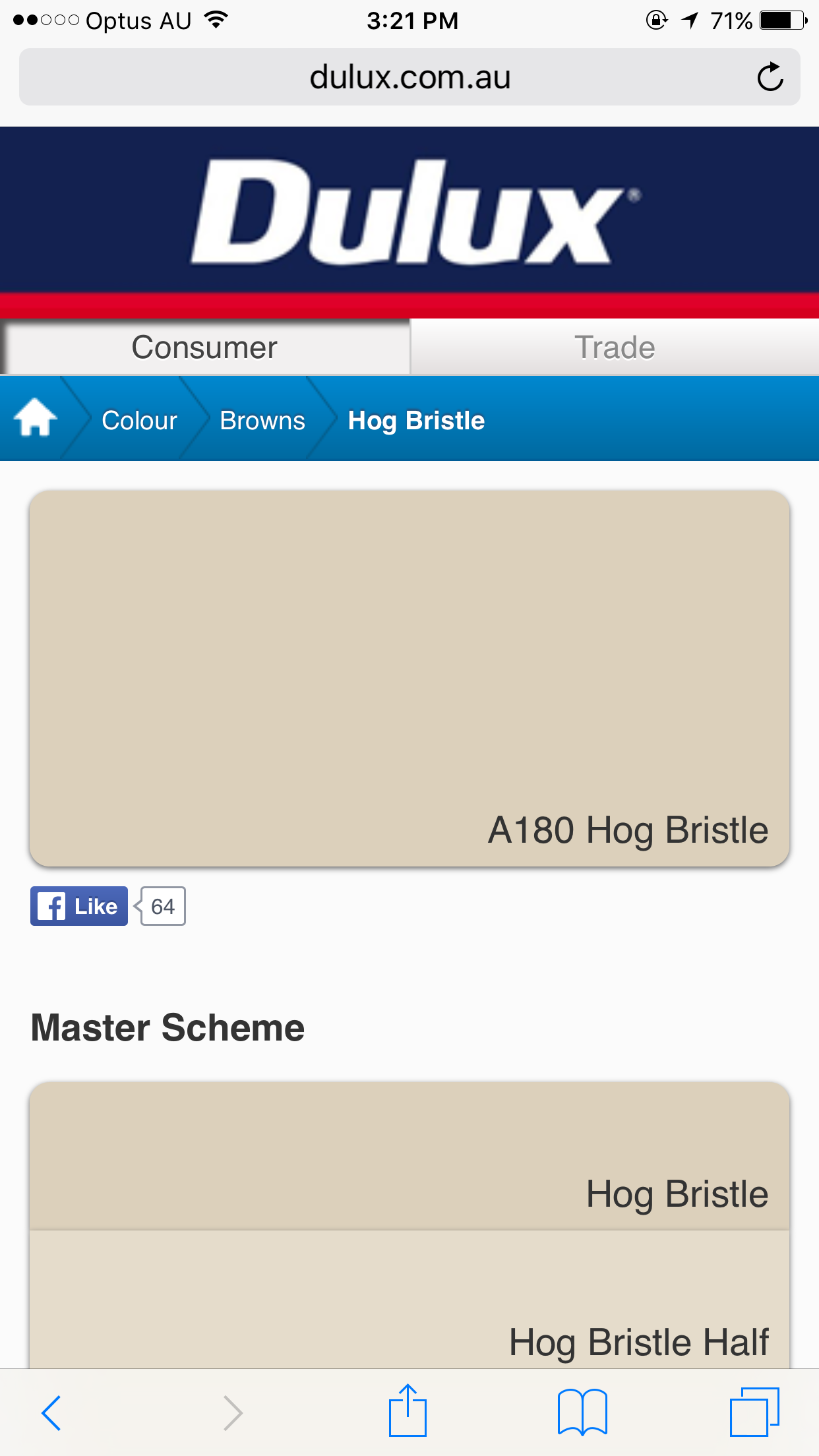 Paint colors website - Hog Bristle Dulux Paint