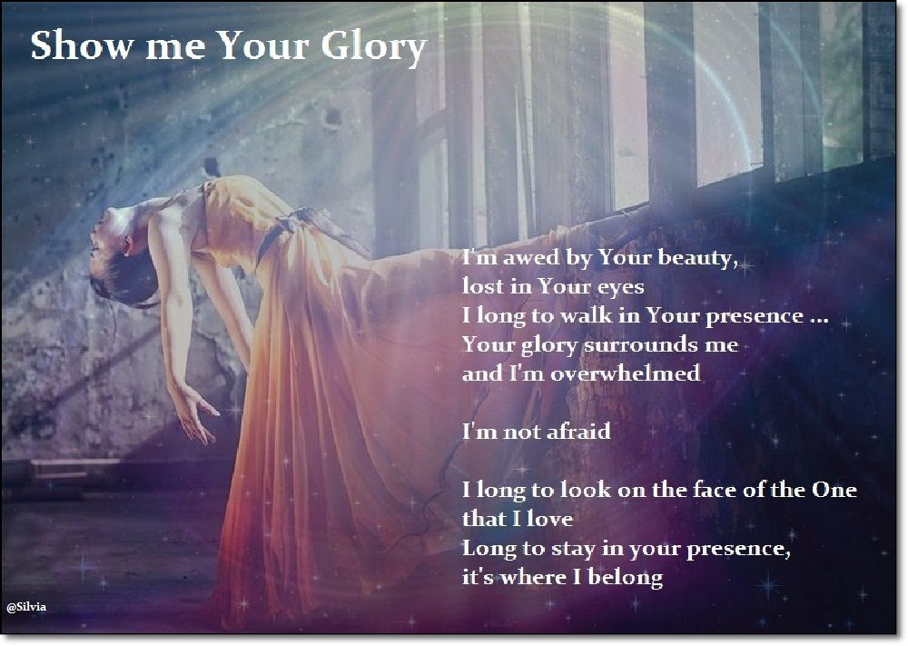 Show me Your Glory; beautiful song always breaks me down. I love ...