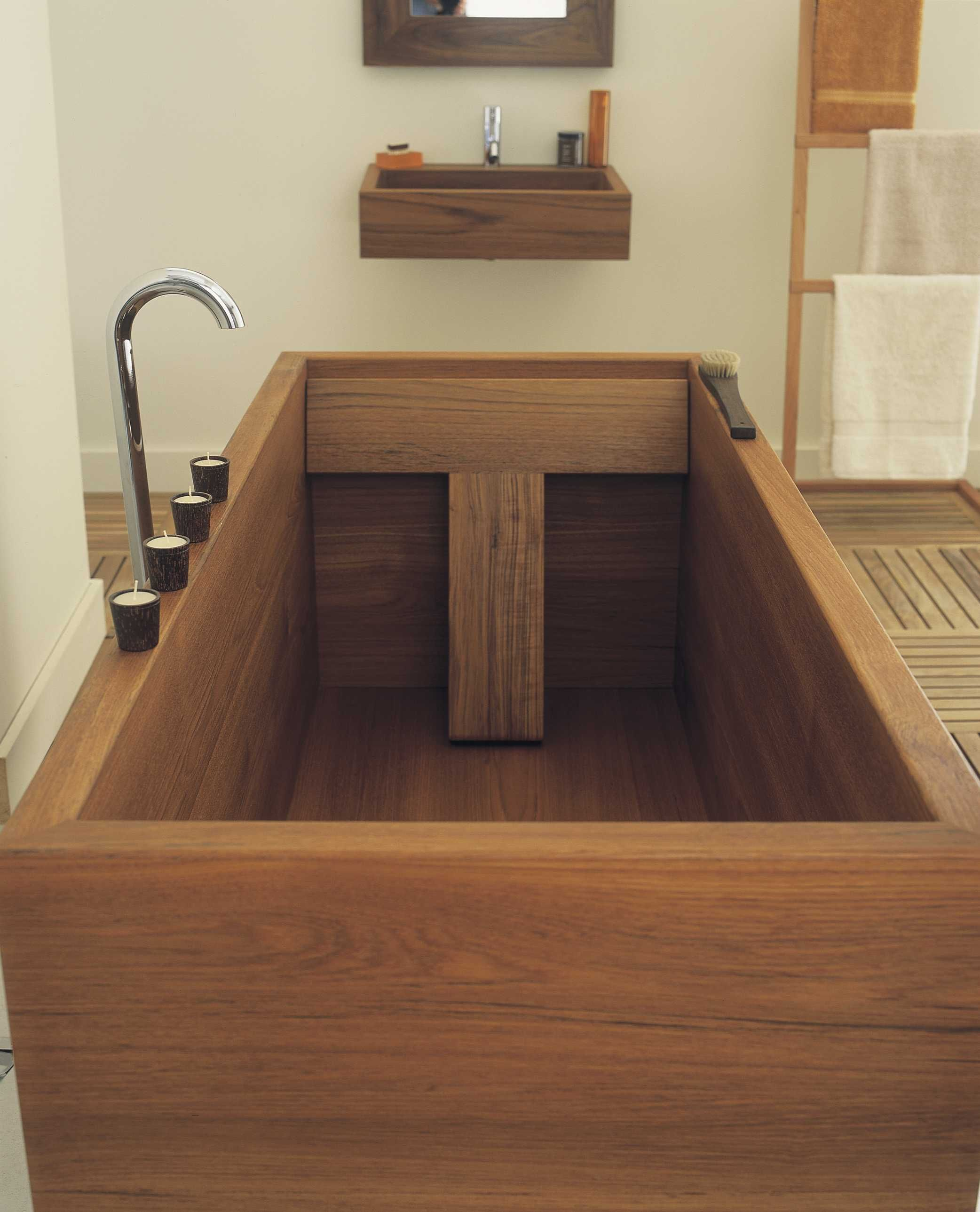 if i ever get to design my home, i\'m putting in a japanese ofuro ...