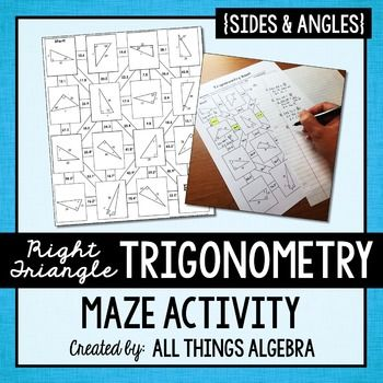 Right Triangle Trigonometry (SOH CAH TOA) Mazes ...