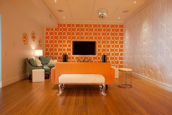 Bright and fun orange room design | Cosy, Orange rooms and Living .