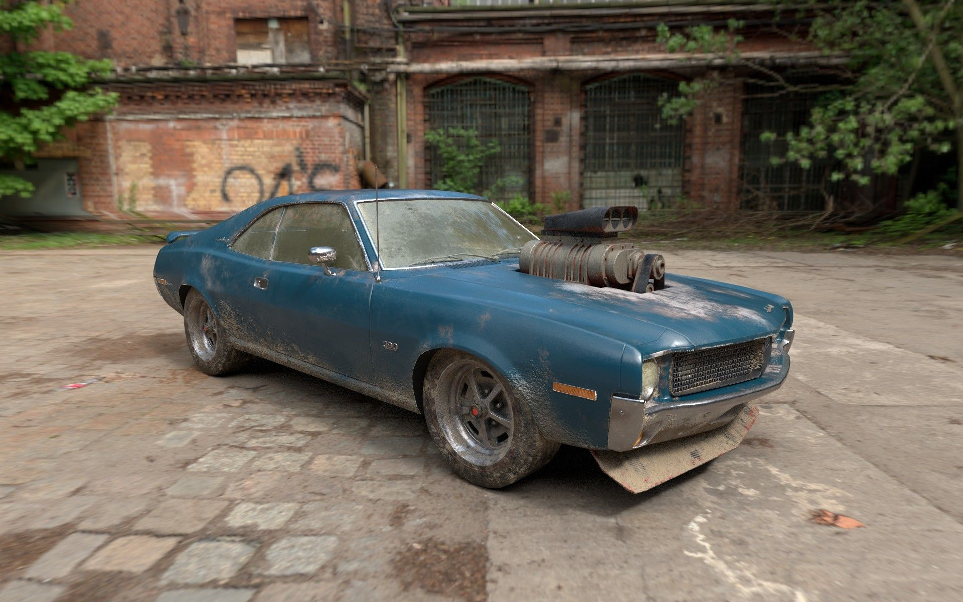 ArtStation - Old muscle car, Zuno Liu | Low Ploy vehicles ...