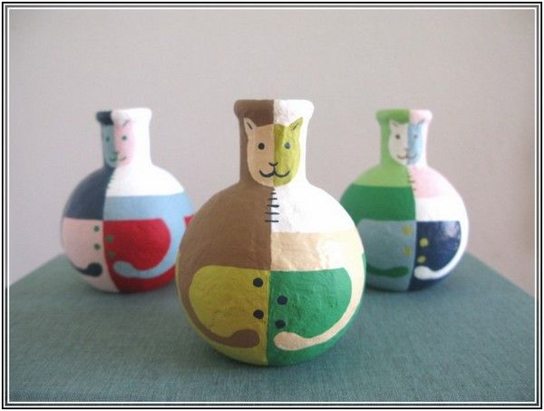 Paper Mache Vase Plastic Bottle D Pinterest Plastic Bottles