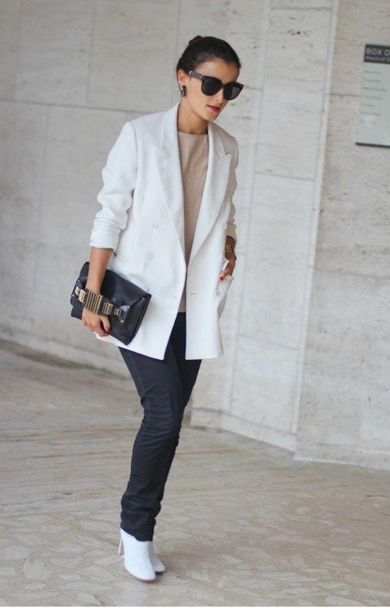Beyaz Bayan Blazer Ceket Blazer Ceket Elbiseler Kadin
