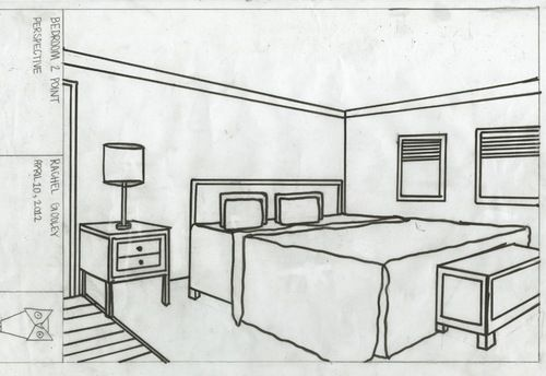 How To Draw A Bedroom Google Search Perspective Drawings