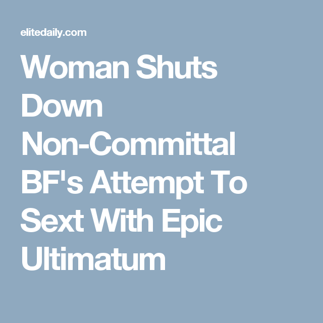 non committal woman