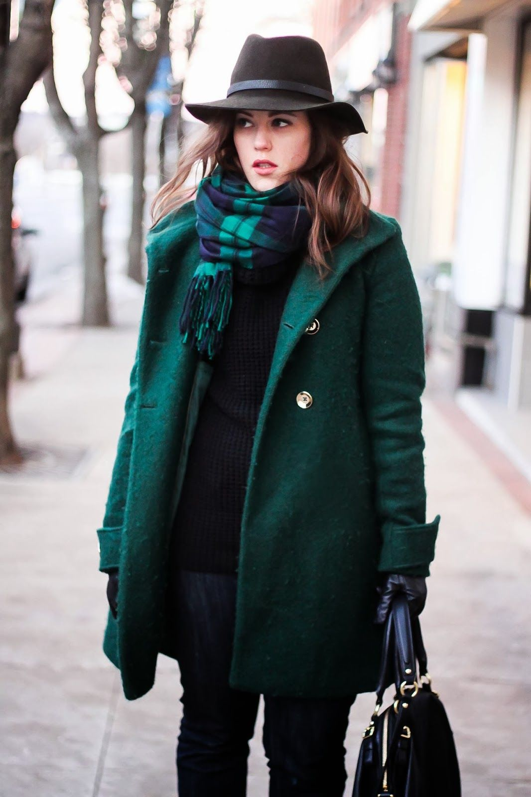 Lets figure out how to wear a coat with a handkerchief