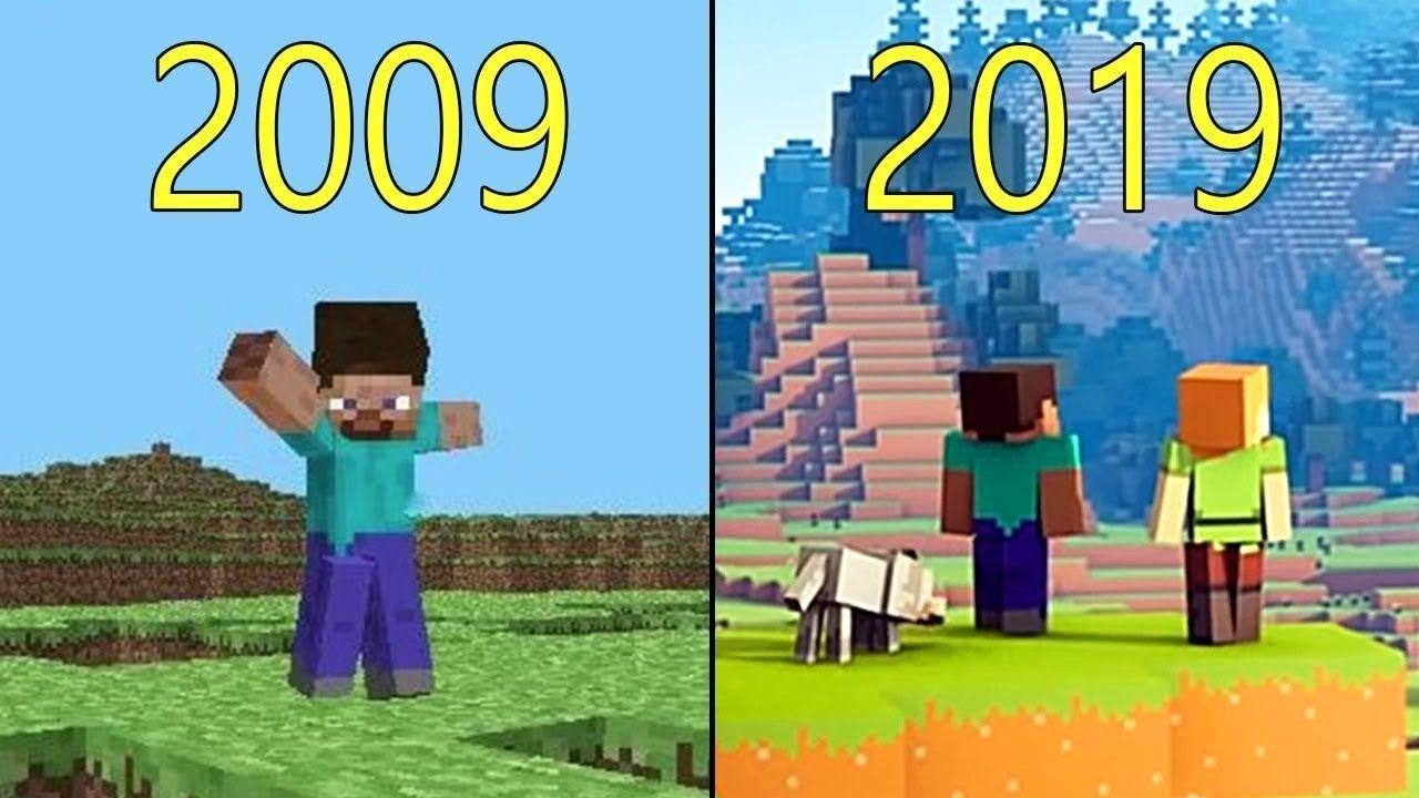 Evolution of Minecraft 2009 2019 Minecraft, Minecraft