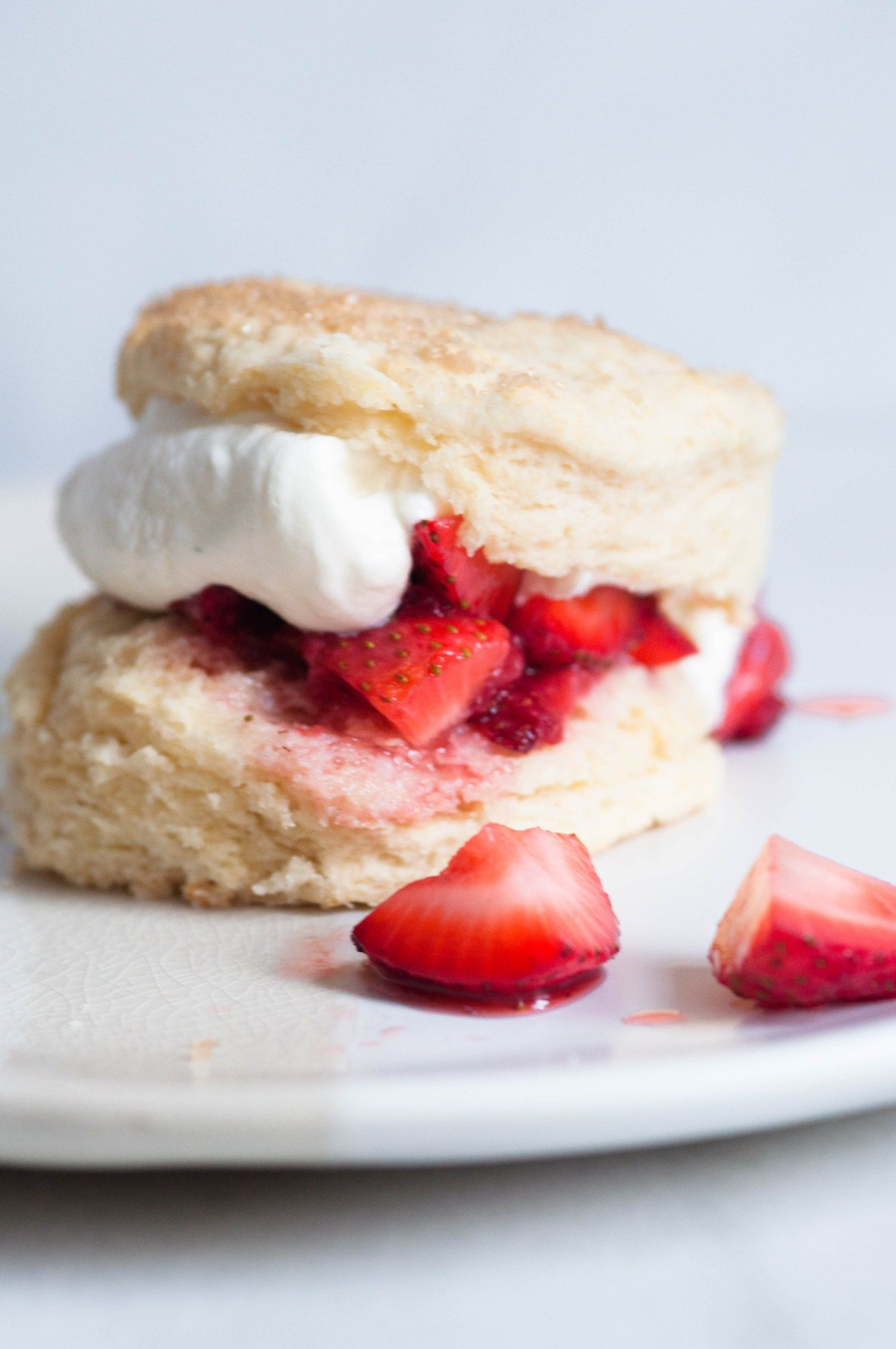 Strawberry Shortcake W Sweet Buttermilk Biscuits Quarter Soul Crisis Savoury Cake Savory Biscuits Recipe Dessert For Dinner