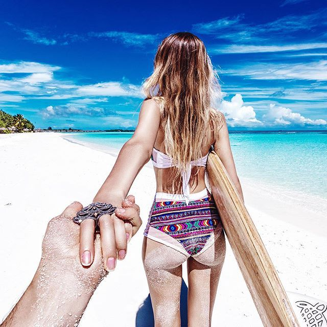 #followmeto the Maldives Islands with @yourleo. Not many people know that, but Maldives has some of the best waves in the world and some great surfing spots......................................................................... Tag someone you know that is a surf maniac.
