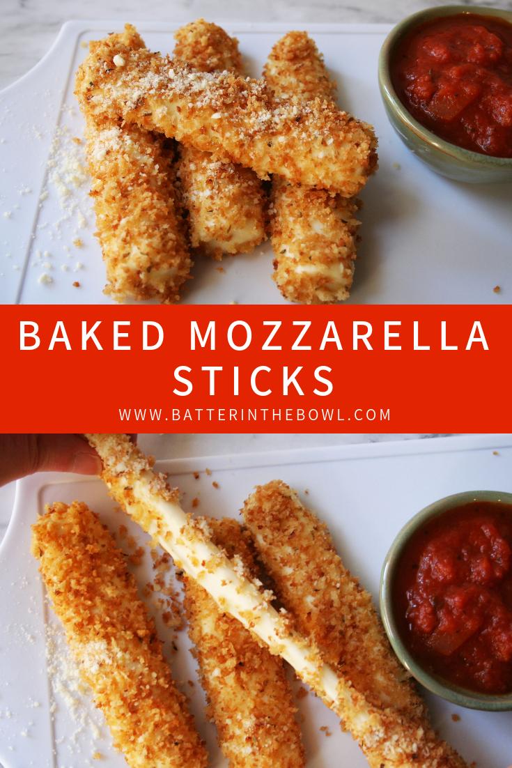 Baked Mozzarella Sticks Baked Mozzarella Sticks Mozzarella Sticks Oven Baked Recipes